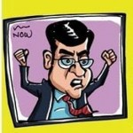 Cartoon on Arnab Goswami by Satish Acharya
